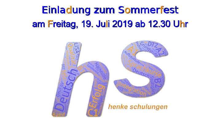 Invitation to summer party 2019