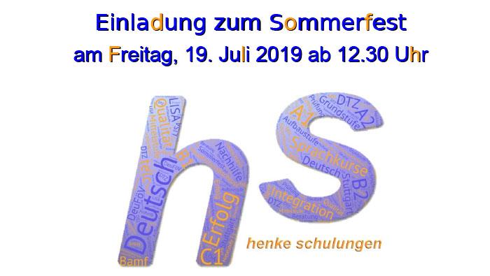 Einladung zum Sommerfest 2019